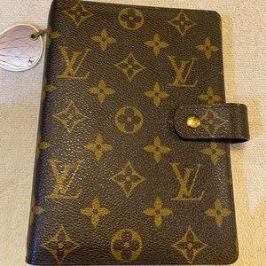Louis Vuitton monogram agenda